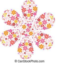 Flower from flowers - Flower shape makes from flowers,...