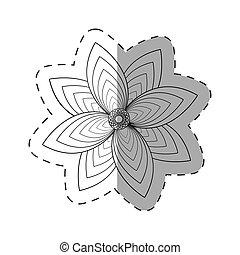 flower garden decoration cut line
