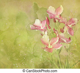 Flower Garden Digital Painting Background - Pink Flower ...