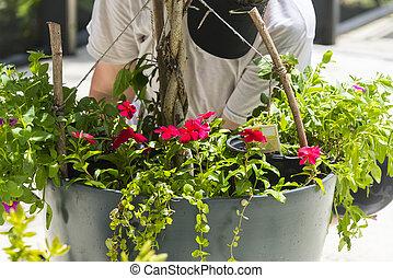 Flower Garden Pot Preparation