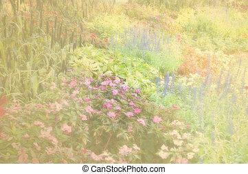 Flower garden soft color and blur.
