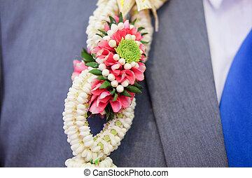 Flower garland for groom (Thai traditional wedding)