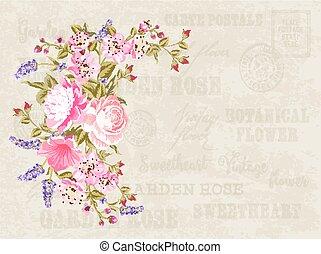 Flower garland illustration.