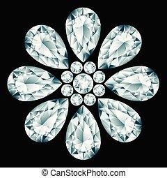 Flower gemstone composition
