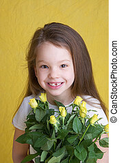 flower girl - young girl with flowers
