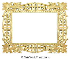 flower gold frame