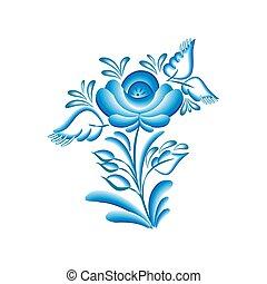 flower gzhel