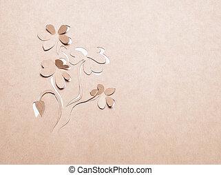 Flower handmade - Image of abstract white flower handmade. ...