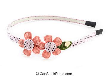 Flower headband on white.