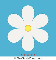 Flower icon . Different color .