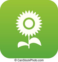 Flower icon digital green