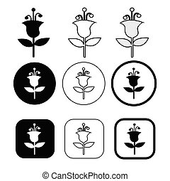 Flower icon flora sign symbol