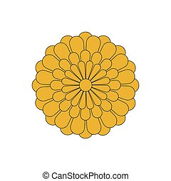 Flower icon, flower chrysanthemum