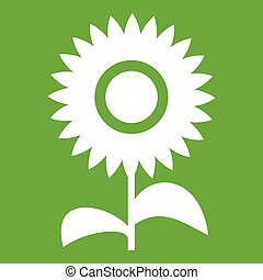 Flower icon green