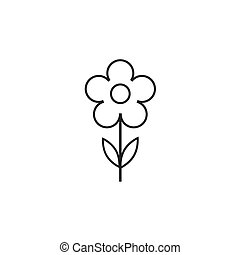 Flower Icon in trendy flat style isolated on grey background. Spring symbol for your web site design, logo, app, UI. Vector illustration, EPS10.