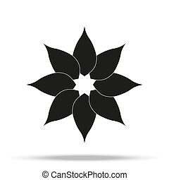 Flower Icon in trendy flat style isolated on grey background. Spring symbol for your web site design, logo, app, UI. Vector illustration,