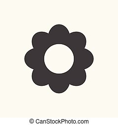 Flower Icon in trendy flat style isolated on grey.