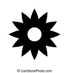 Flower Icon in trendy flat style isolated on white background. Spring symbol for your web site design, logo, app, UI.