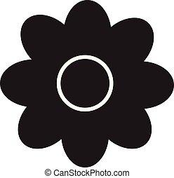 flower icon on white background. flower sign.