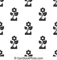 flower icon on white background