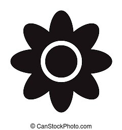 flower icon, on white background