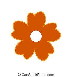 flower icon on white background.