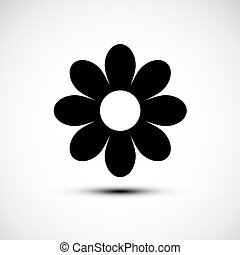 Flower Icon. Simple Vector Plant Symbol.