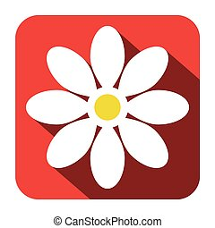 Flower Icon - Vector Flat Design Illustration