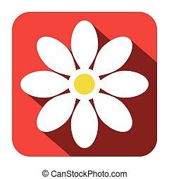 Flower Icon - Vector Flat Design Illustration