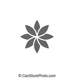 Flower Icon. Vector illustration, flat design. Isolated on white background