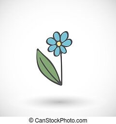 Flower icon. Vector illustration.