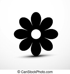 Flower Icon. Vector Plant Symbol.