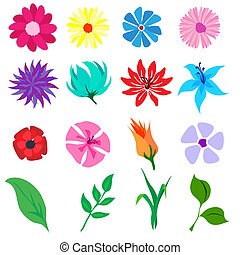 Flower icons.