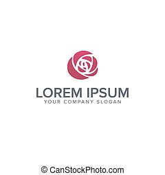 Rose Logo Ideas On Background Rose Logo Ideas Design Vector