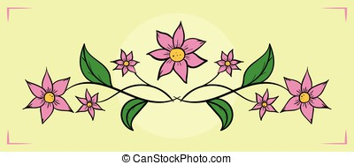 Flower illustration hand drawn