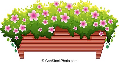 Flower - Illustration of a single flower bed