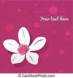 flower., ilustracja, wektor