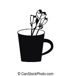 Flower in a mug