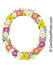 Flower in circle