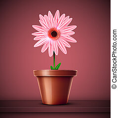 Flower in pot