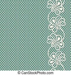 Flower lace border on pink background