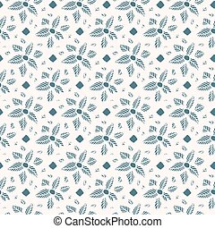 Flower lace seamless pattern