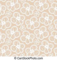Flower lace seamless pattern