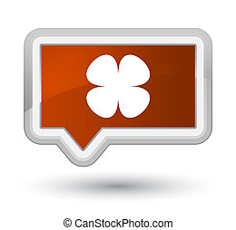 Flower leaf icon prime brown banner button