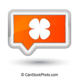 Flower leaf icon prime orange banner button