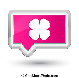 Flower leaf icon prime pink banner button