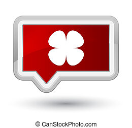 Flower leaf icon prime red banner button