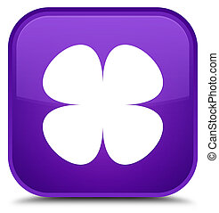 Flower leaf icon special purple square button