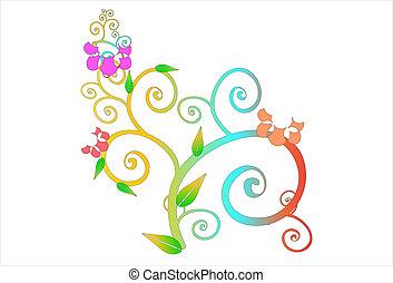 flower-line art