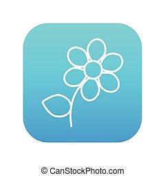 Flower line icon.
